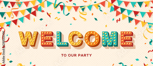 Fototapeta  Welcome typography banner