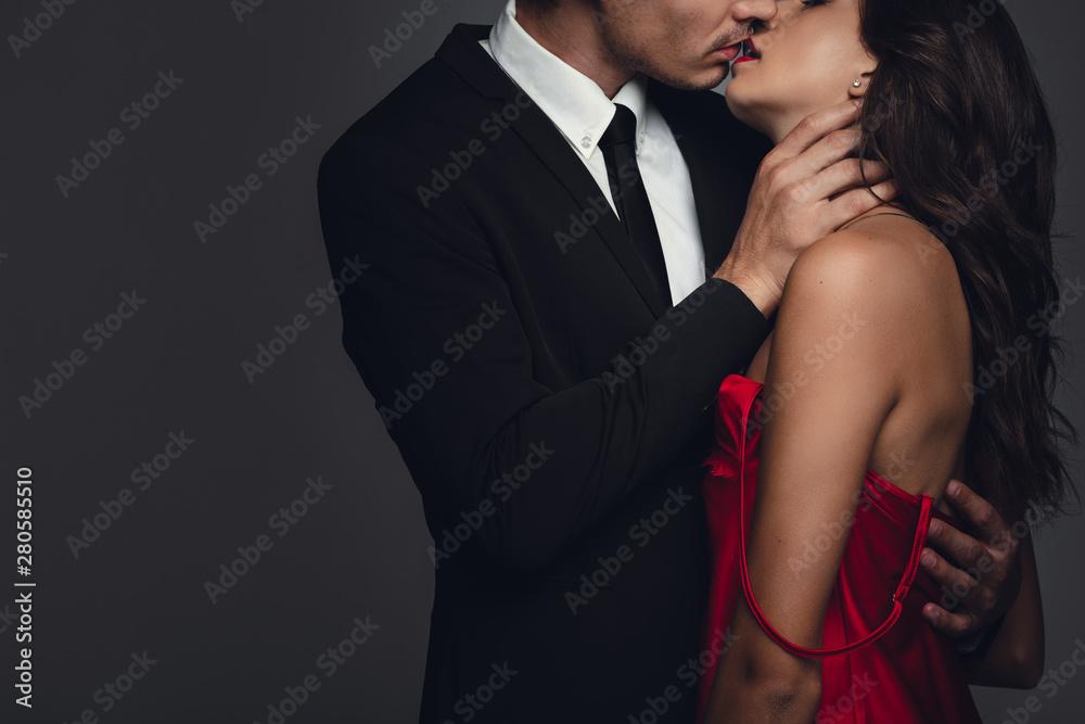 Fototapeta Couple kissing each other