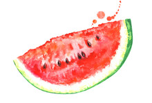 Watercolor Watermelon Slice Cl...