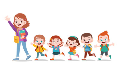 Illustration of Students fr...