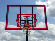 Red Basketball System Backboard  During Sunny Day