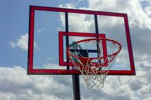 Red Basketball System Backboard