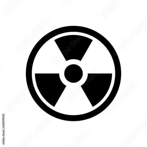 Fototapeta  Radioactive icon. Nuclear bomb symbol. Danger icon.