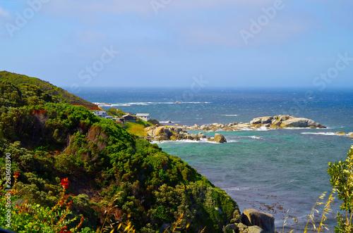 Obraz na plátně  Malerische Bucht mit Felsen und Natur in Südafrika am Kap der Guten Hoffnung