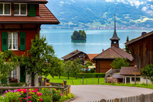 The Swiss Village Of Iseltwald...