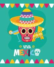 Sugar Skull Pinata And Cocktail Celebration Viva Mexico