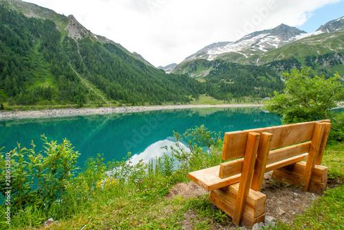 Anterselva Lake, Ahrntal, Valle Aurina, Trentino Alto Adige, Bolzano, Trentino A Wallpaper Mural
