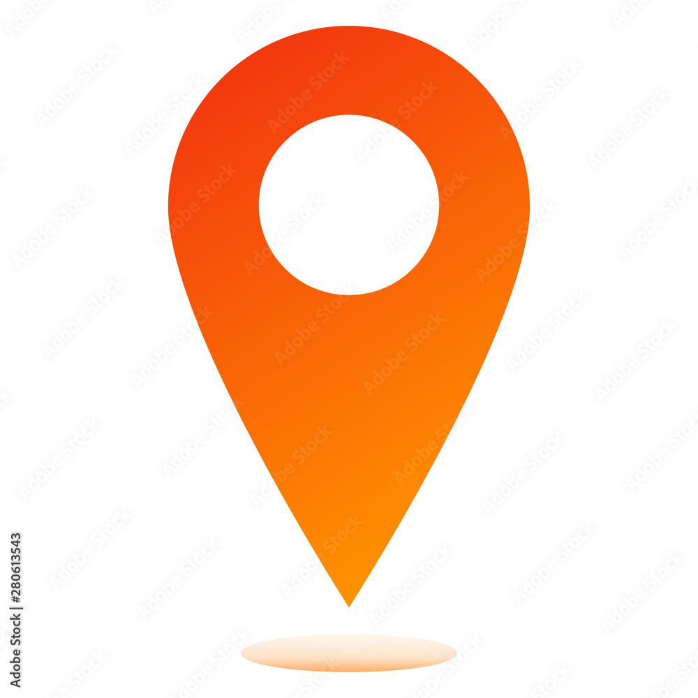 Fototapety, obrazy: Location icon
