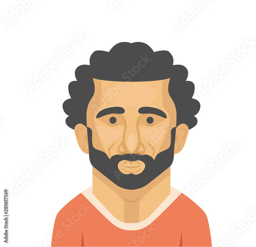 Photo  Mohamed Salah vector portarait.