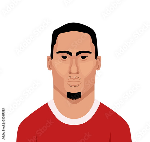 Photo  Virgil van Dijk vector portrait