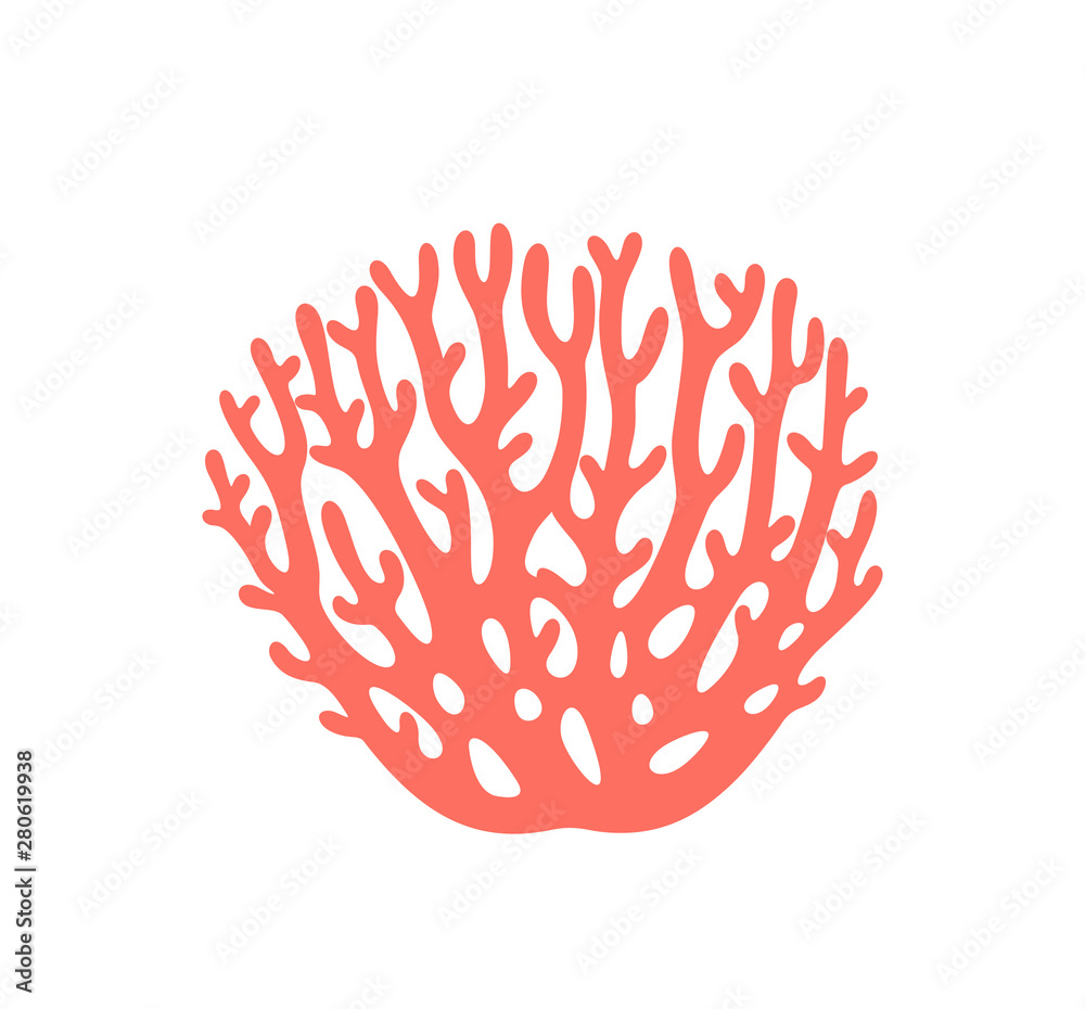 Fototapety, obrazy: Coral logo. Isolated coral on white background