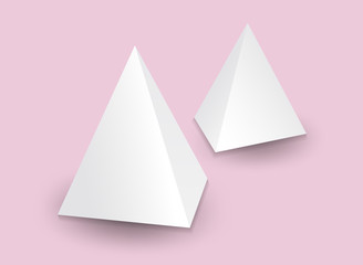 White 3d pyramid, Vector illustration, Box Packaging For Food, Gift Or Other Products, Product Packing
