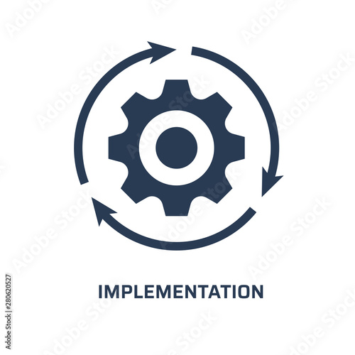 Implementation icon Canvas Print