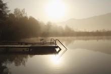 Morning Mood At The Hafnersee Lake Near Keutschach, Carinthia, Austria, Europe