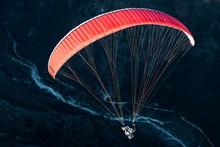 Paraglider, Paragliding Near Monte Grappa, At Semonzo, Veneto, Italy, Europe