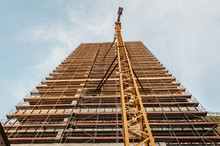 Low Angle View Of Construction...
