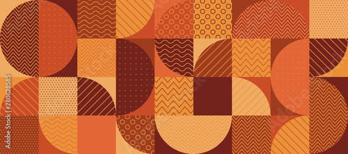 obraz dibond Vintage 70s color geometric seamless pattern