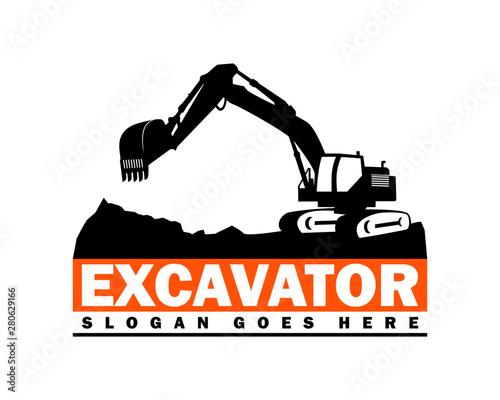 Fotografia Excavator Logo Designs Template Vector Illustration