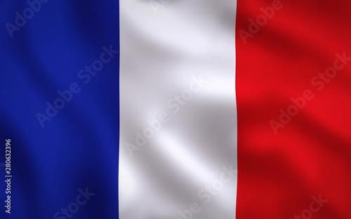 Obraz na plátně  France Flag Image Full Frame