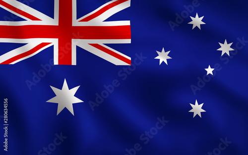 Australia Flag Image Full Frame Fotobehang