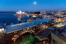 Blue Hour At Sydney Harbour