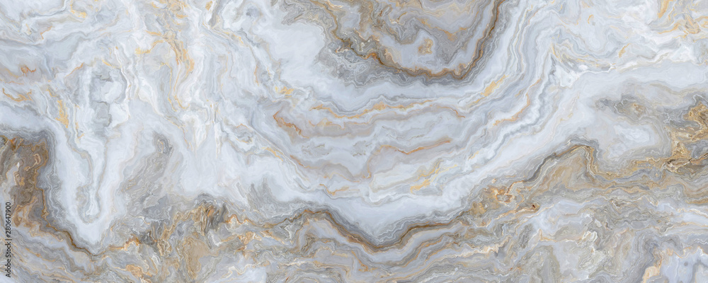 Fototapety, obrazy: White curly marble