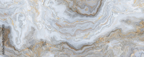 Foto op Canvas Abstract wave White curly marble