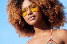 Confident Black Woman In Sungl...