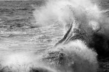 A Curling Wave Crashing On Sho...
