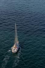 Aerial View Of Sailboat In Sydney, Australia