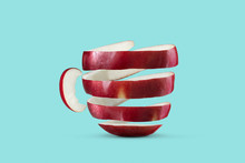 Cup Made Of Red Apple