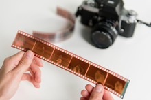 Woman Holding Film Negatives