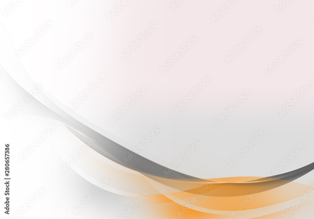 Fototapety, obrazy: Abstract background waves. White, orange and grey abstract background for business card or wallpaper