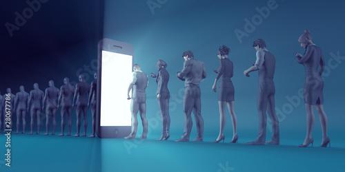 Obraz na plátně  Smartphone Problems in Society
