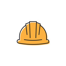 Helmet Or Hard Hat Vector Icon...