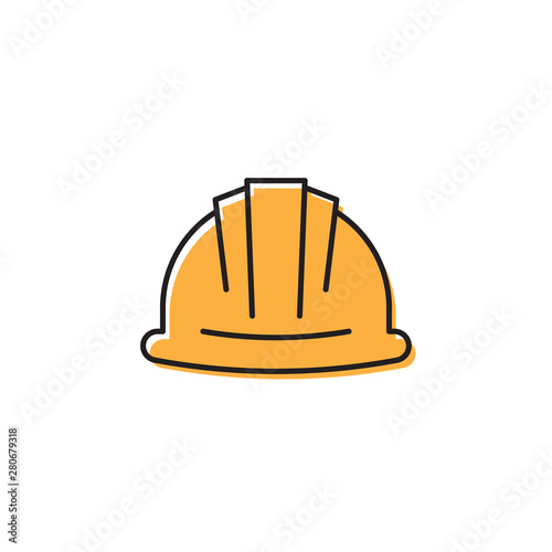 Carta da parati  Helmet or hard hat vector icon symbol isolated on white background
