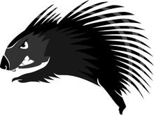 Cute Porcupine Cartoon Lunge