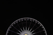 The Light Of The Ferris Wheel  Isolated On Black Background