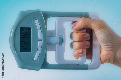 Fotografie, Tablou Digital Hand Grip Dynamometer for Strength Measurement