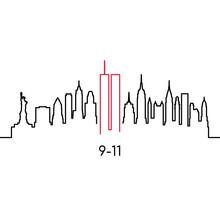 New York Linear Silhouette. Ve...