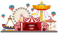 Circus Event With Tents, Ferri...