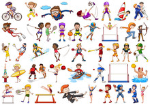 Sport Activities By Boys, Girl...