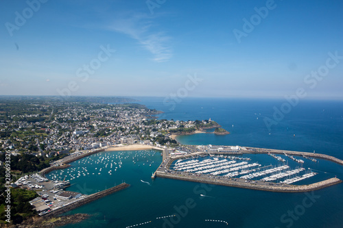 Obraz Aerial view of ISaint quay portrieux in Brittany, France - fototapety do salonu