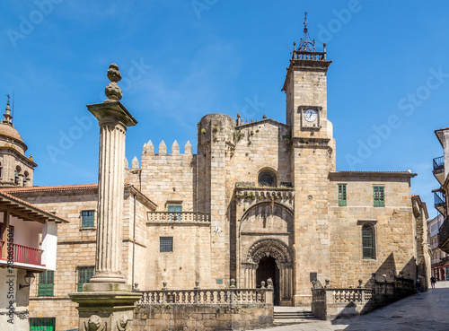 View at the Portal of Saint Martin Cathedral of Ourense in Spain