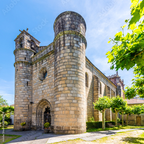 View at the Church of Holy Trinity in Ourense - Spain