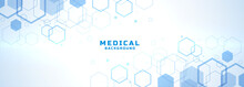 Abstract Medical Background With Hexagonal Structure Shapes