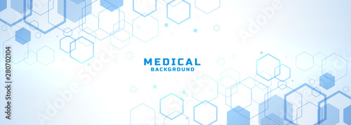 abstract medical background with hexagonal structure shapes Fototapet