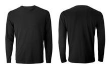 Men's Long Sleeve Black T-shir...
