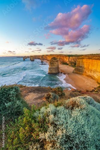 Fotografia  twelve apostles at sunset,great ocean road at port campbell, australia 113