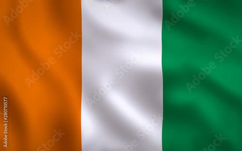 Fotografie, Obraz  Ireland Flag Image Full Frame